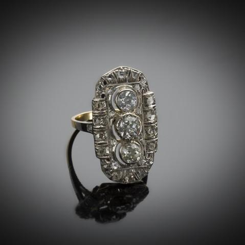 Bague diamants Art Déco (vers 1930)