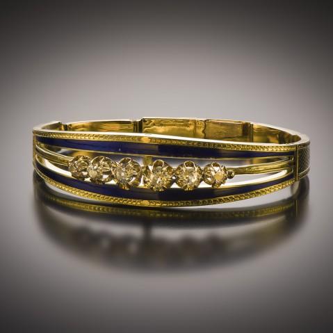 Bracelet émaillé diamants Napoléon III (1851 – 1871)