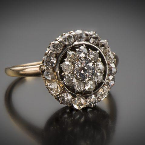 Bague vers 1900 diamants