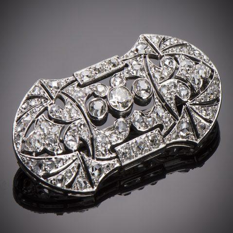 Broche diamants (3 carats) Art Déco