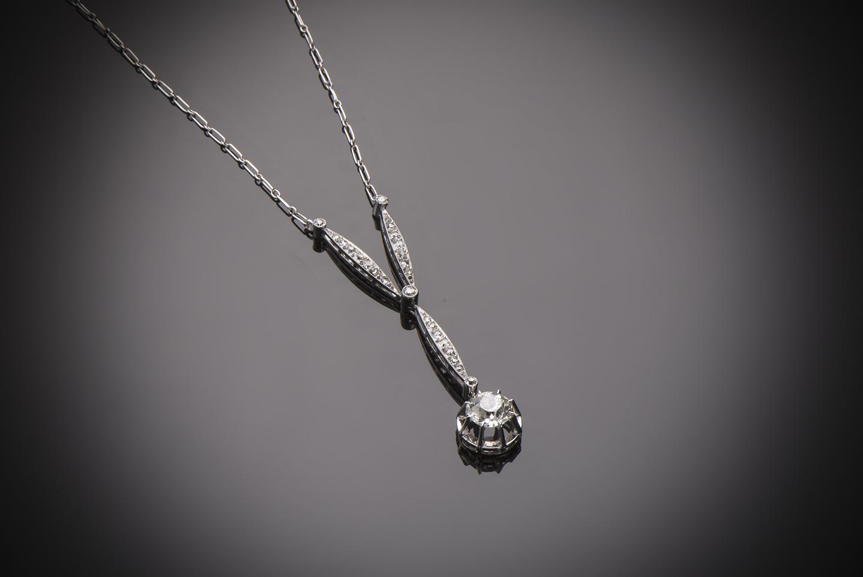 Collier diamants Art Déco (vers 1930)-1