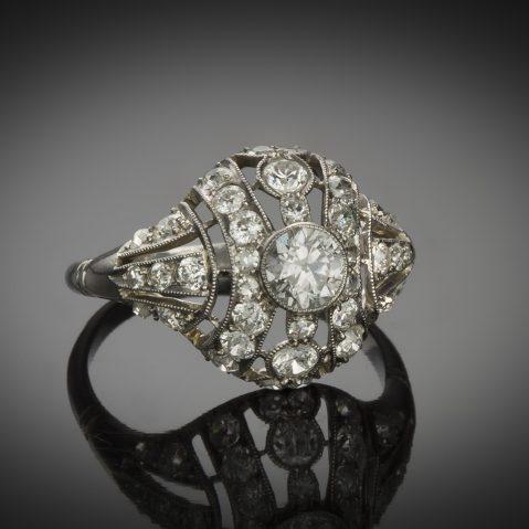 Bague diamants Art Déco 1,50 carat
