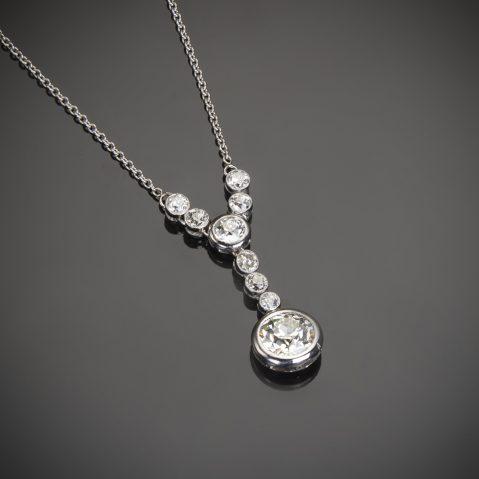 Pendentif diamants Art Déco (3 carats)