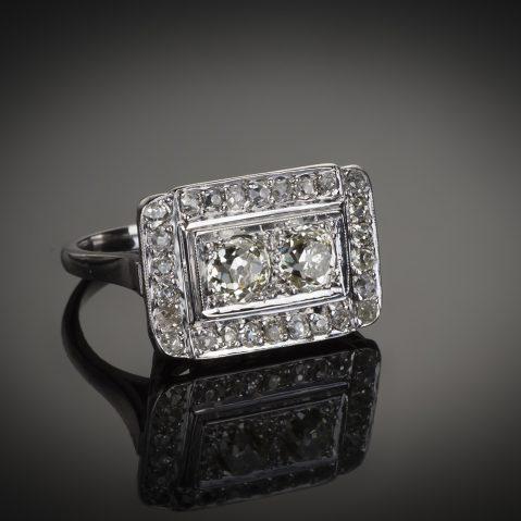 Bague diamants Art Déco (vers 1935) 1,20 carat