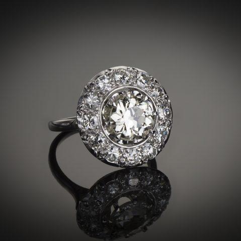 Bague diamants Art Déco 3 carats