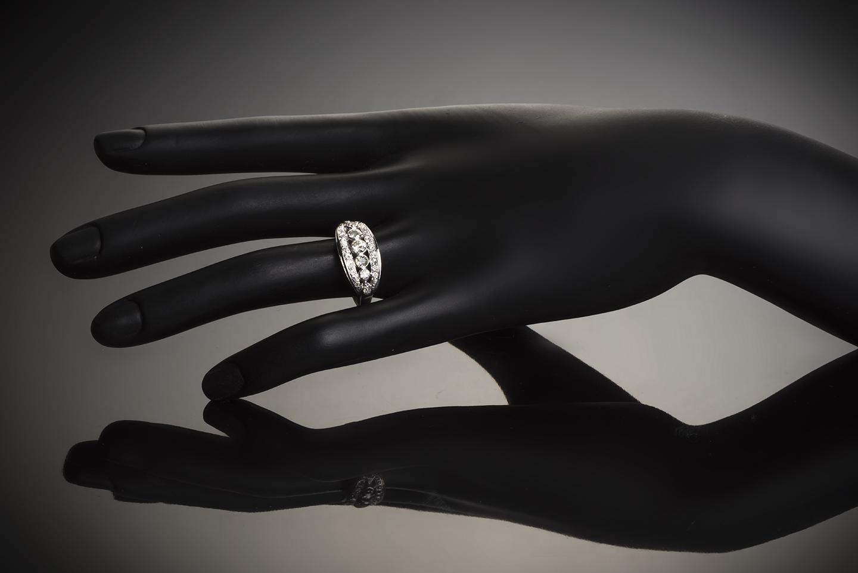 Bague diamants Art Déco (1,50 carat)-2
