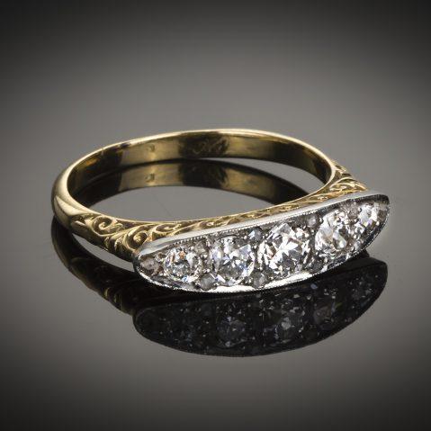 Bague diamants vers 1920