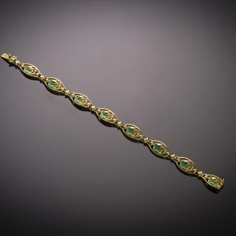 Bracelet émaillé Art nouveau (vers 1900)