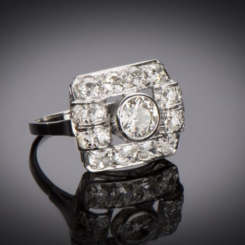 Bague Art Déco diamants (2,30 carats)