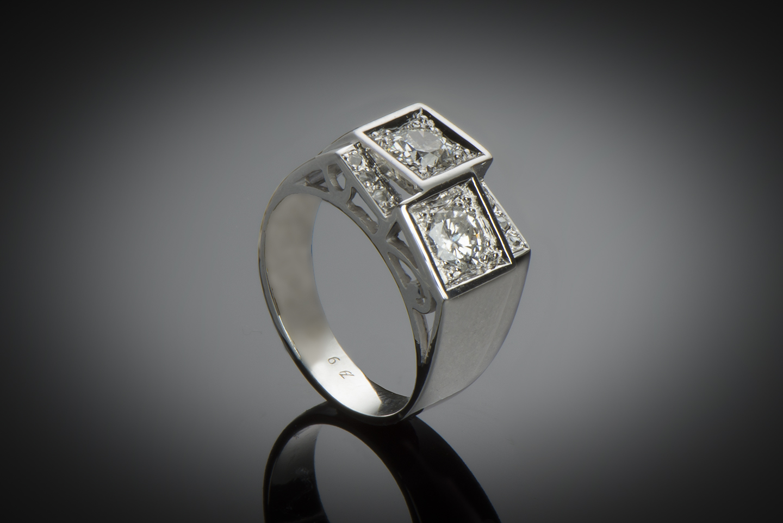 Bague diamants avant-garde vers 1935-1