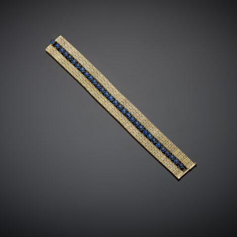 Bracelet Gerder saphirs (8 carats) vers 1940 – 1950