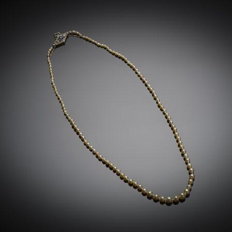 Collier perles fines (certificat LFG) fin XIXe siècle
