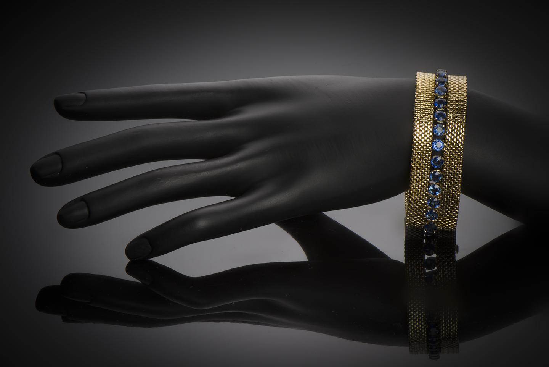 Bracelet Gerder saphirs (8 carats) vers 1940 – 1950-2