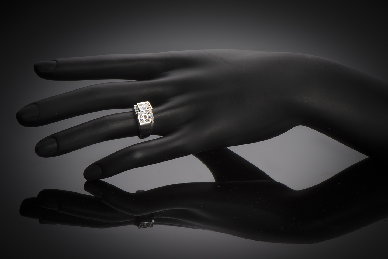 Bague diamants avant-garde vers 1935-2