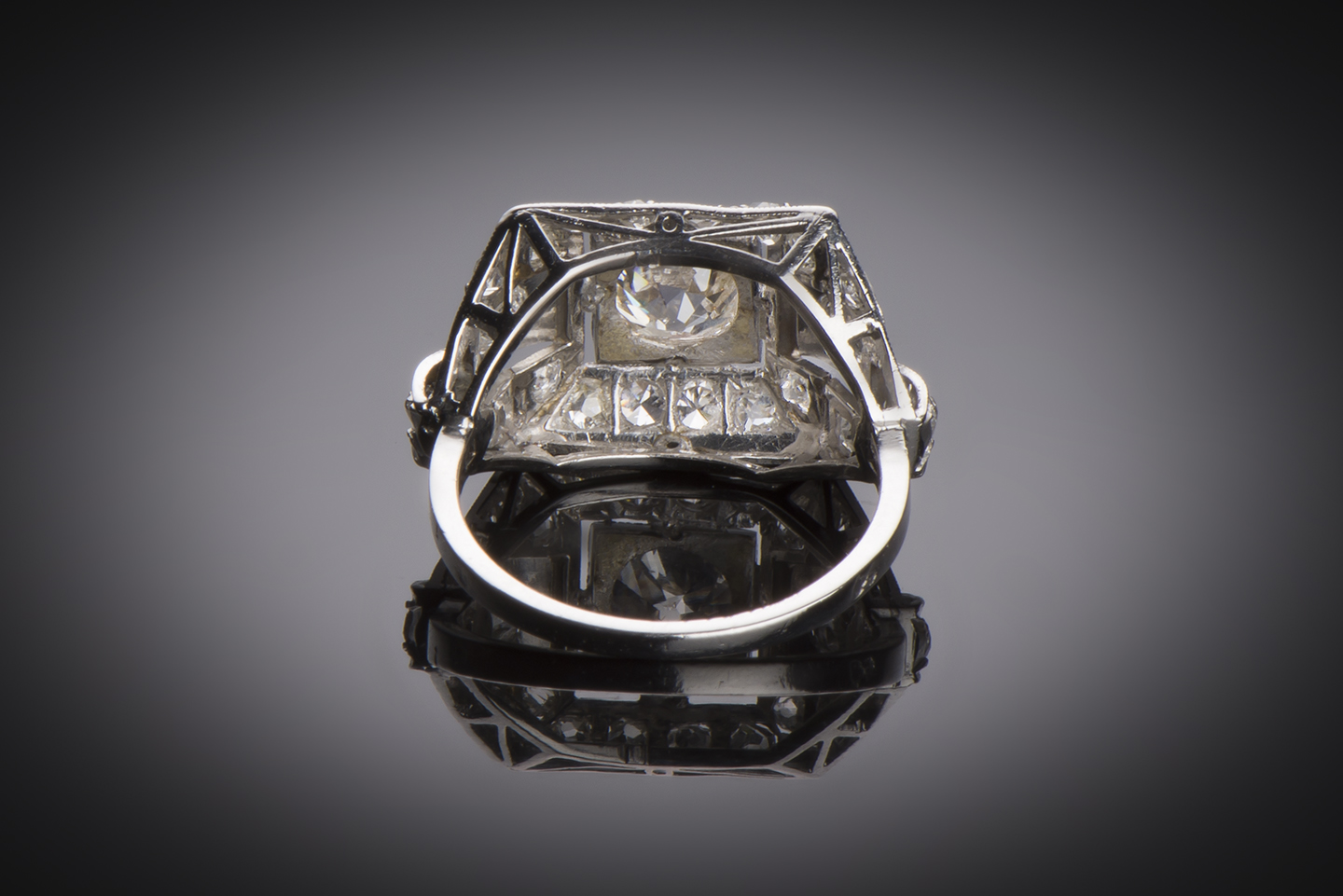 Bague diamants Art Déco (2 carats)-2