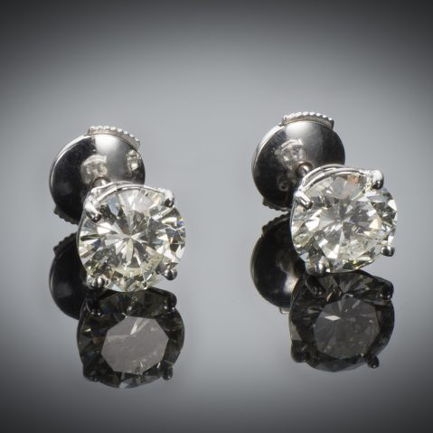 Boucles d'oreilles diamants (3,09 carats)