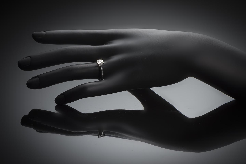 Bague solitaire diamant brillant 0,91 carat (certificat LFG)-2