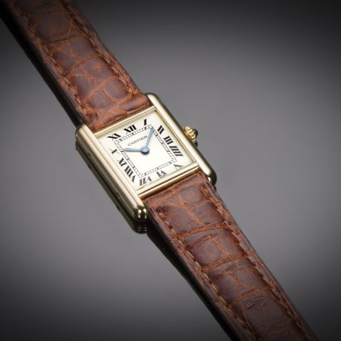Montre Cartier Tank or