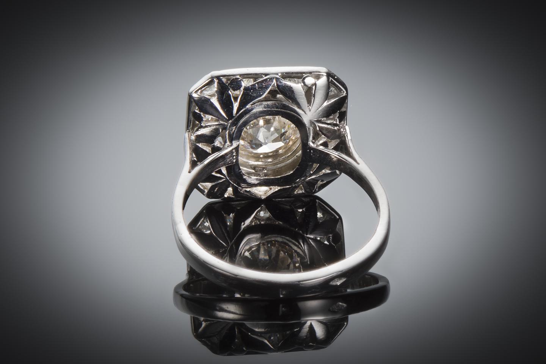 Bague diamants (2,80 carats) Art Déco-2