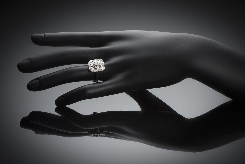 Bague diamants (2,80 carats) Art Déco-3
