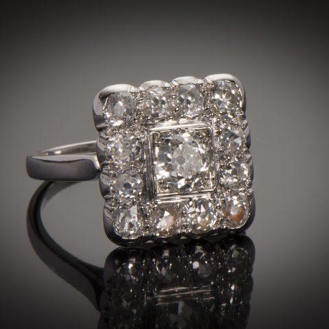 Bague diamants Art Déco (2 carats)