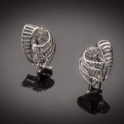 Boucles d'oreilles diamants vers 1950
