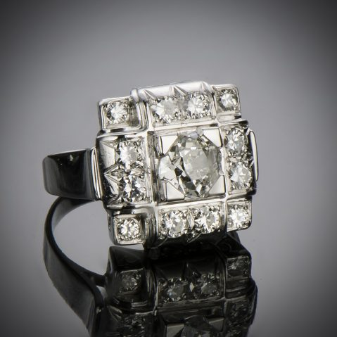 Bague Art Déco diamants (1,50 carat)