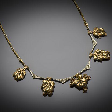Collier diamants fin XIXe siècle