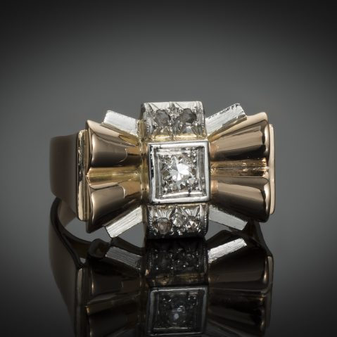 Bague diamants vers 1940