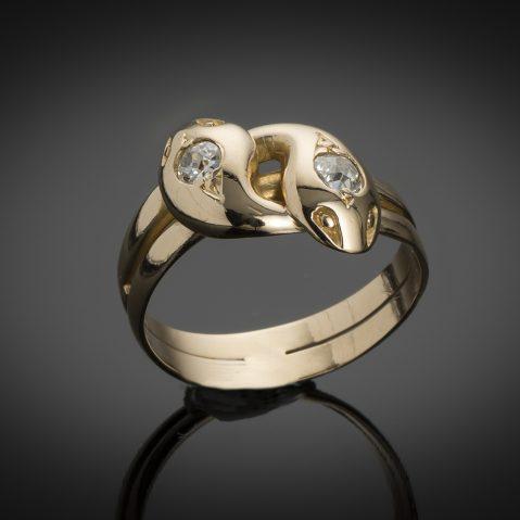 Bague fin XIXe siècle diamants