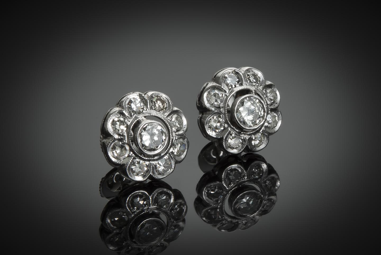 Boucles d'oreilles diamants Art Déco-1
