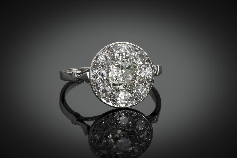 Bague Art Déco diamants (2 carats)-1