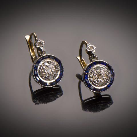 Boucles d'oreilles diamants Art Déco (vers 1930)