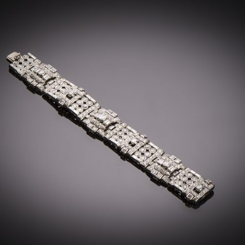Bracelet diamants (13 carats) Art Déco