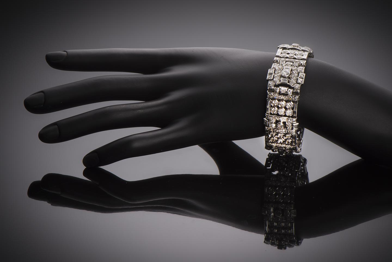 Bracelet diamants (13 carats) Art Déco-2
