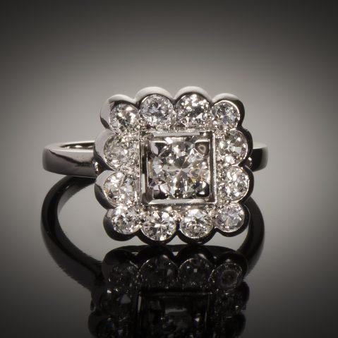 Bague diamants Art Déco (1,5 carat)