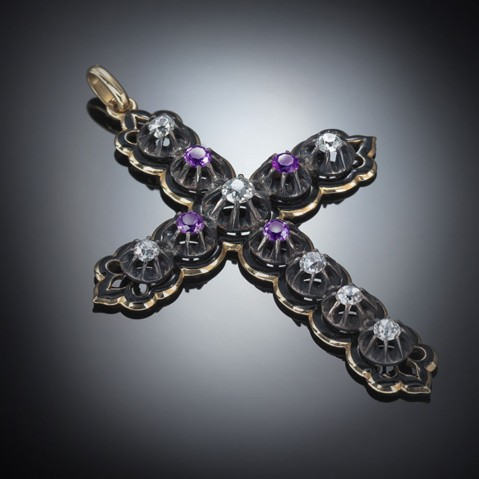 Louis Philippe Ier diamonds and amethysts cross (1830 – 1848)