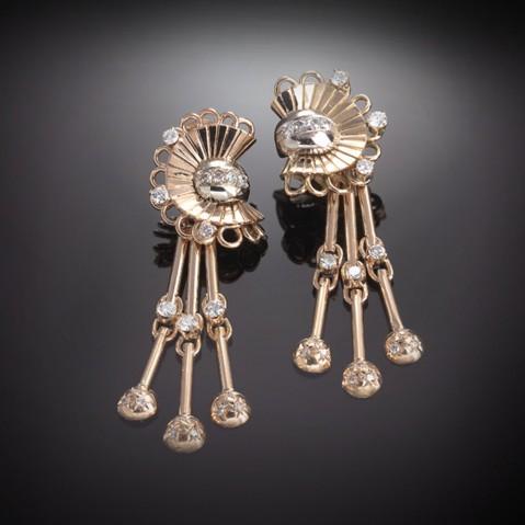 Diamonds earrings (circa 1940)