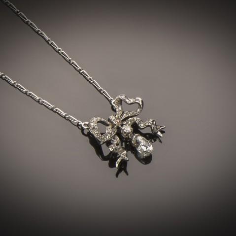 Late 19th century French diamonds pendant