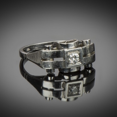Diamond Art Deco ring (circa 1930) – Ref. : 17 037 4