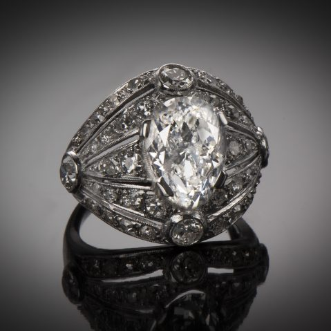 Diamond Art Deco ring (circa 1930) – Ref. : 27 027 2
