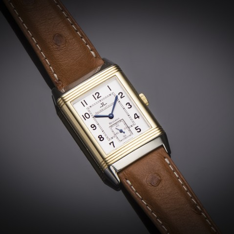 Jaeger LeCoultre Reverso large gold steel watch