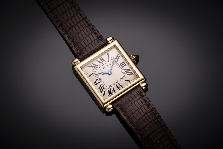 Cartier obus gold watch-1