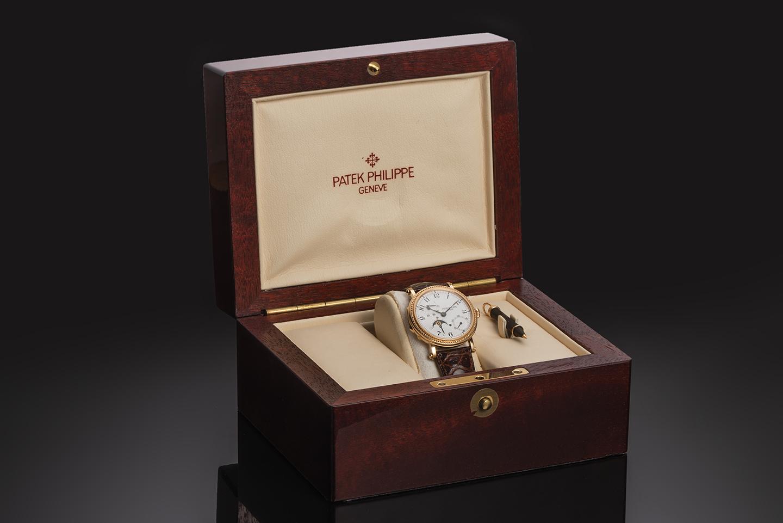 Patek Philippe complications rose gold watch (full set)-3