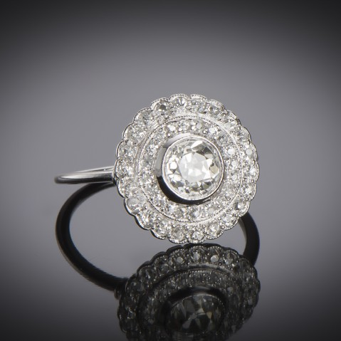 Art Deco diamond ring (2.30 carats)