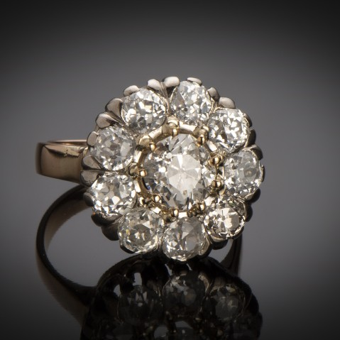 Late nineteenth century diamond ring (3.05 carats)