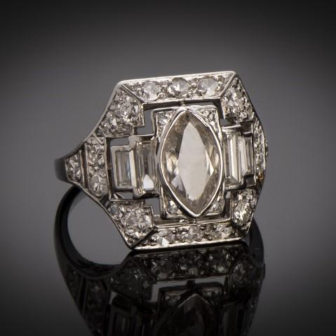 Art Deco diamond ring (circa 1930)