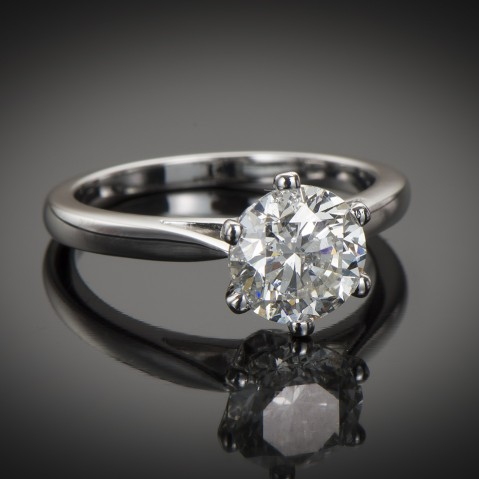 Brilliant diamond solitaire ring (HRD certificate)