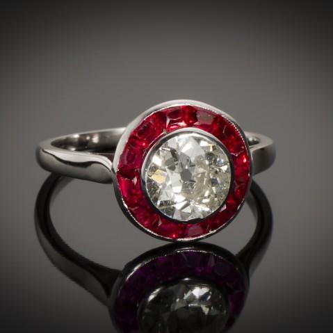 Art Deco diamond ring (1.60 carat)