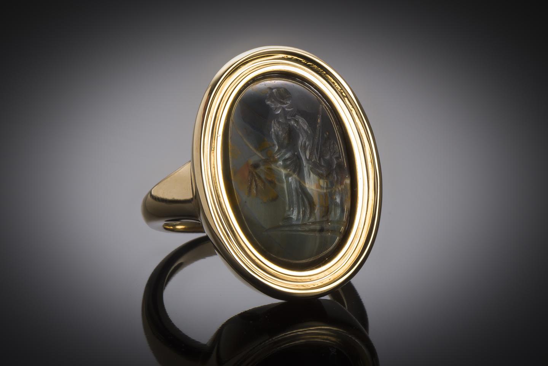 Roman intaglio ring (2nd – 3rd century AD)-1